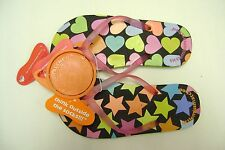 Kids LittleMissmatched FlipFlops Stars and HeartsX-Large5-6 New