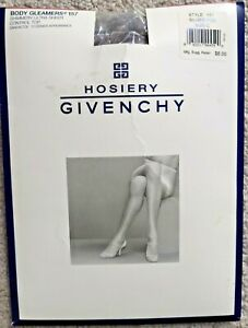 Givenchy Womens Pantyhose Body Gleamers Silver Fox Control Top Ultra Sheer Sz C