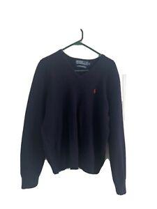 polo ralph lauren jumper, 100% Lamb's Wool Men's Navy Jumper