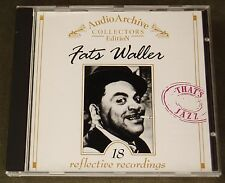 CD Fats Waller  18 reflecive recordings  Audio Archive Collectors Edition 1999