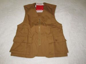 Vintage 1950s red head Men's Half Moon Fishing Hunting Vest w/tags dead stock