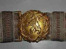 WOW Bulgaria Bulgarian Royal MIlitary Officer Parade Uniform Belt Buckle WWI
