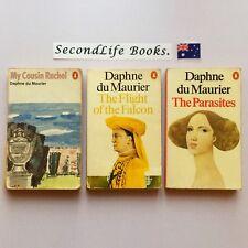 (Vintage) x3 Daphne du Maurier Penguin Novels ~ Slave, Parasites, Flight Falcon.