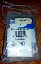 Lot of 5 Leviton 41080-3Wp QuickPort 3-Port White Wall Plates