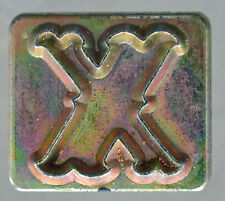 """Leather Tools Tandy  Craftool Alphabet Replacement 3/4 """" letter X Stamp"""