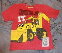 "Bob the Builder Lofty Bulldozer Red (2T) Toddler ""Build It"" Short Sleeve T-Shirt"