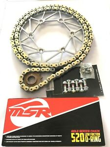 KTM DIRT TRICKS SPROCKET & CHAIN KIT MSR/RK GOLD XW RING & BOLTS KTM ALL 125-530