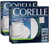 CORELLE Livingware Winter Frost 16-piece Dinnerware Set for 4 NEW