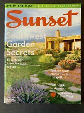 Sunset Magazine September 2005 2000's Lifestyle Travel  Recipes Gardening Ads