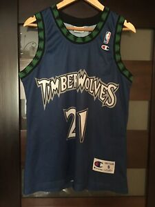 MINNESOTA TIMBERWOLVES #21 GARNETT BASKETBALL JERSEY RARE VINTAGE NBA