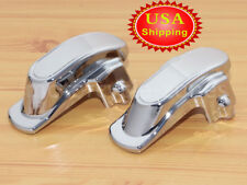 Chrome Rear Frame Covers Axle Covers For Harley Dyna FXDL FXDB FXDI Wide Glide