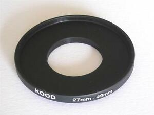 STEP UP ADAPTER 27MM-49MM STEPPING RING 27MM TO 49MM 27-49 FILTER ADAPTOR