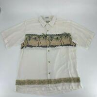 Bamboo Cay Mens Floral Hawaiian Button Down Shirt Size XL Short Sleeve Rayon O8
