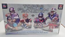 2014 Topps Platinum Football Factory Sealed Hobby Box Bortles RC