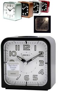 [SEIKO] loud alarm clock luminous quite sweep snooze night LED light QHK025