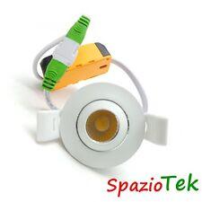 Faretto LED COB 3W 220V Minifaretto foro incasso 50mm cartongesso luce bianca