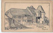 NORTHIAM, SUSSEX - Benedict House - pen & ink sketch 1935 postcard