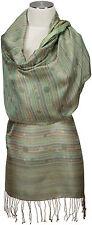 Seidenschal Punkte Grün 100% Seide silk soie scarf écharpe Foulard green dots