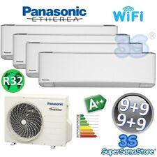 3S CLIMATIZZATORE PANASONIC Wi-Fi QUADRI 4 SPLIT ETHEREA 9000+9000+9000+9000 A++