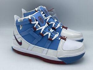 Nike Zoom LeBron 3 QS Houston Oilers Basketball Shoes AO2434-400 Mens Size 8