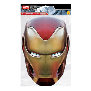 Iron Man Party Mask - Face Card A4 Fancy Dress Ladies Mens Mask-Arade