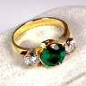 Art Deco 2.45 Ct Round Green Sapphire Antique Vintage 925 Silver Engagement Ring
