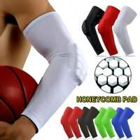 Honeycomb Pad Elbow Brace Compression Support Sleeve Arthritis Tendonitis Joint