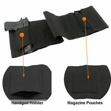 Ambidextrous Concealed Belly Band Holster CCW Elastic Waist Band Holster MEDIUM