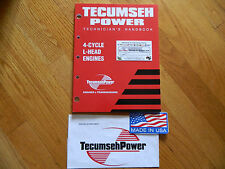 NEW Tecumseh engine 4cycle L head Repair service manual  3-11HP mowers,tillers..