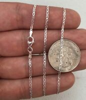 "Mens Womens Solid 925 Sterling Silver Mariner Chain Necklace Italy 16-24"" 2mm"