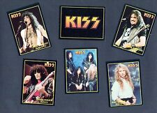 KISS 16 ROCK CARDS MADE IN ARGENTINA IN THE 90s BY ULTRAFIGUS - STANLEY SIMMONS