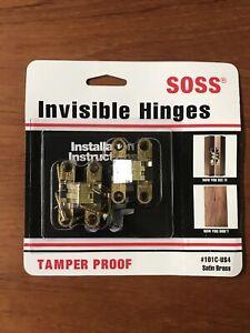 SOSS Mortise Mount Invisible Hinge 101C-US4 satin brass - nip