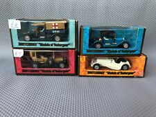 Matchbox Models of Yesteryear Jaguar SS-100, Stutz, 1907 Peugeot & Crossley RAF