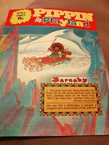 PIPPIN IN PLAYLAND old vintage CHILDRENS comic strip magazine 26th March 1977