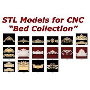 "NEW 3d STL Models - ""Bed Collection"" for CNC relief artcam 3d printer"
