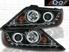 FIT FOR 2011-2013 SORENTO PROJECTOR CCFL HALO RING LED BLACK HEADLIGHTS