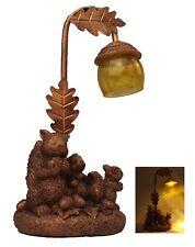 Solar Powered Squirrel with Lantern Garden LED Ornament Figurine Light Statue