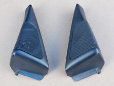BMW E32 PAIR BLACK of Door Pillar LOUD Speaker Tweeters with Covers B 8356278/79
