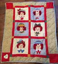 Raggedy Ann & Andy Vintage Inspired 6 panel Wall Hanging Quilt
