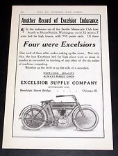 1910 OLD MAGAZINE PRINT AD, EXCELSIOR ENDURANCE RUN & SEATTLE MOTORCYCLE CLUB!