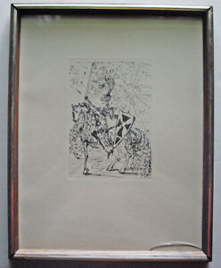 1966 Salvador Dali Authentic Art Etching El Cid The Collector Guild