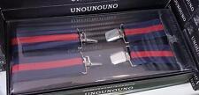 Bretelle Elasticizzate Tinta Unita Uomo Donna Cinghia Regolabile Blu Rosse hac