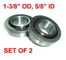 "LOT OF 2,FLANGED BEARINGS 1-3/8"" OD, 5/8"" ID, GO KARTS, BUFFERS, CARTS, DOLLIES!"