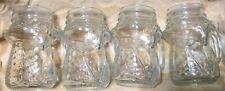 set of 4 Fox Glass Beer Mug