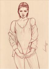 Original Lanestre - Lineae 583 Nude Drawing Nu Dessin Aktzeichnung Akt Art Kunst