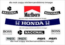 Senna 1990 Rehos F1 Helmet Full Size Sticker Kit Full Size Helmet 1.1