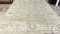 ANTIQUITY HAND-KNOTTED SELECT TURKISH OUSHAK TRIBAL CHOBI VINTAGE WOOL 9' X12'*