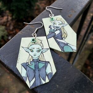 She-Ra - Princess of Power DOUBLE TROUBLE hand-painted earrings -non binary