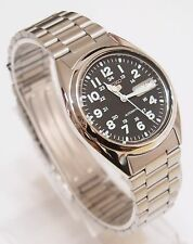SEIKO 5 SNX809K1 Stainless Steel Band Automatic Men's Black Watch & Gift  New