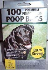 600 (6 x 100) Premium Extra Forte Nero Doggy Poo Sacchetti dei rifiuti